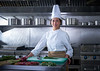 Chef woman portrait kitchen in restaurant kitchen