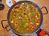 Paella from Spain recipe process boiling broth