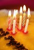 birthday cake candles light golden candlelight