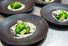 cuttlefish prawn mayonnaise and broccoli