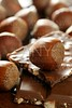 Hazelnuts and chocolate in brown enviroment