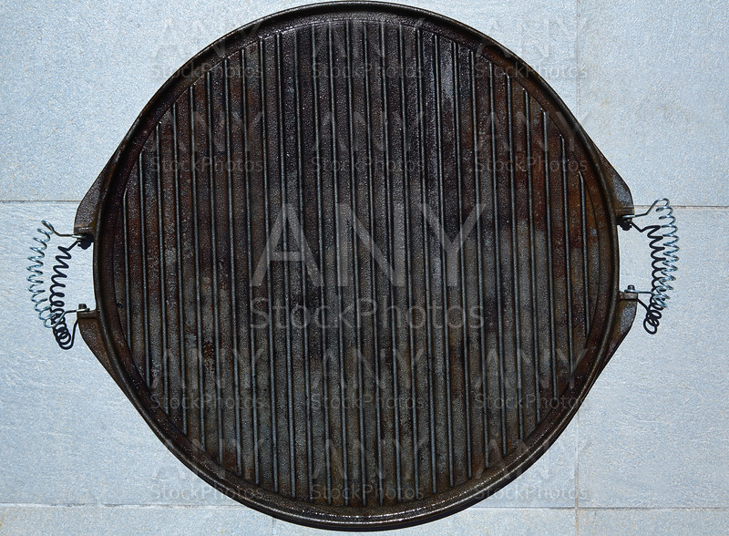 Cast iron grill black steel texture
