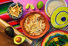 Mexican tortilla soup and aguacate