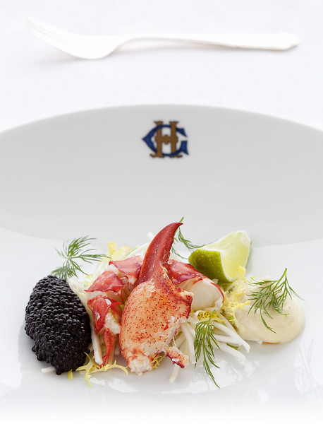 Chef Andreas Askling, Grand Hotel, Stockholm, Lobster and caviar sallad.