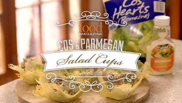 Cos & Parmesan Salad Cups - FOOD MAGAZINE - Brett McGregor