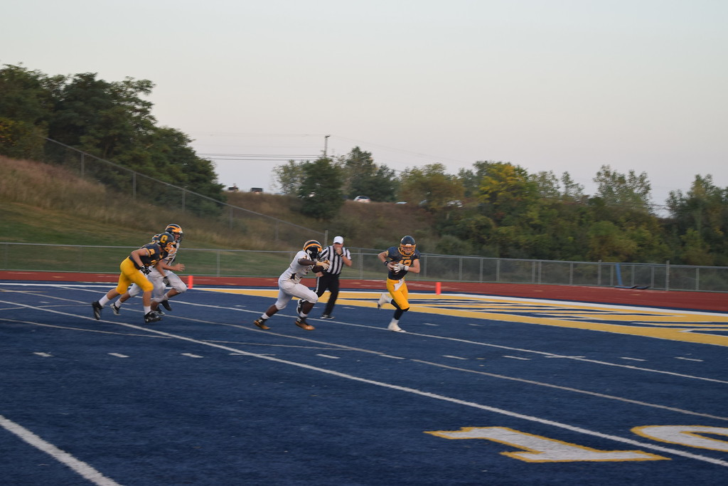 . Clarkston won big on the blue turf at Oxford High School on Friday night. (Photo by Paula Pasche)