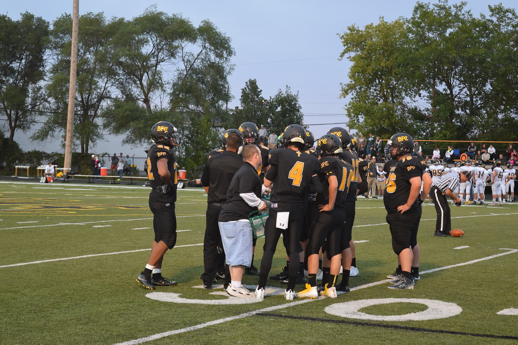 . Lutheran North topped Bishop Foley, 45-7, on Friday night in Madison Heights. (Photo by Paula Pasche)