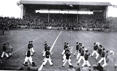 Queen's Bands 1929 Richardson Stadium