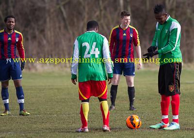 INTER LEAGUE CHAMPIONS CUP SEMI FINAL 22nd Feb 2015 HACKNEY MARSHES FC BARTLETT  0-1 LONDON METEORS