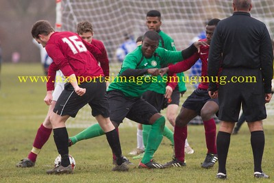 Inter League Champions Cup- Semi Final Hackney Marshes 22nd Feb 2015 MK GALACTICOS  6-3  GOWER ALLSTARS