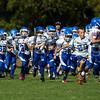 SciCoh Sharks 5th Grade Football Team battled against Bridgewater at Legion Field in Bridgewater, Mass on September 29, 2013