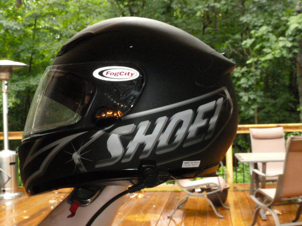 Here is a Large Shoei RF1000 helment with an Elite headset.  This helment was $380 new, now because they have the RF1100 you can buy new for $290.  With the headset the price for this is $200.