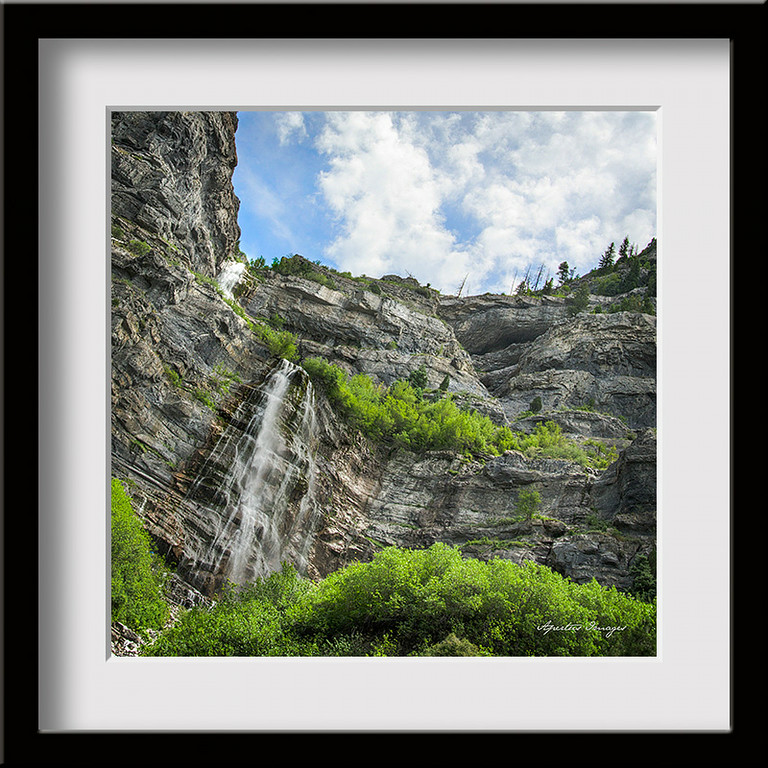 """Stewart Falls"" (Captured in Utah, near Sundance Canyon, 2014)"
