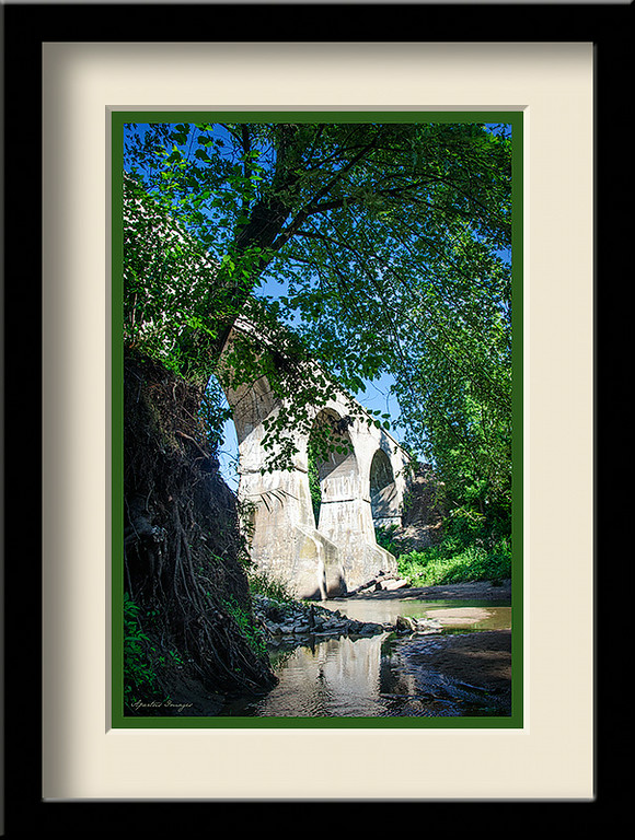 Rail Bridge at Piasa, captured in Delhi, IL (full color)