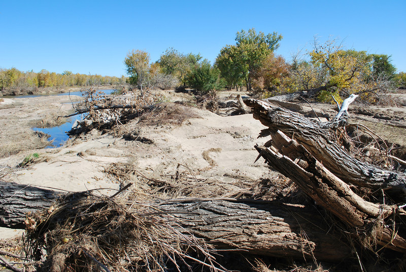 One of the biggest washouts during the flood happened at this spot in northeast Riverside Park along the South Platte River. (Brad Curtis/Special to the Times)