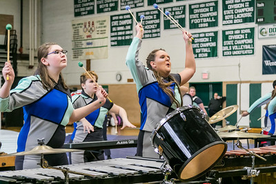 2018 Winter Guard & Percussion Show held at Dover High School Sunday. [Scott Patterson/Fosters.com