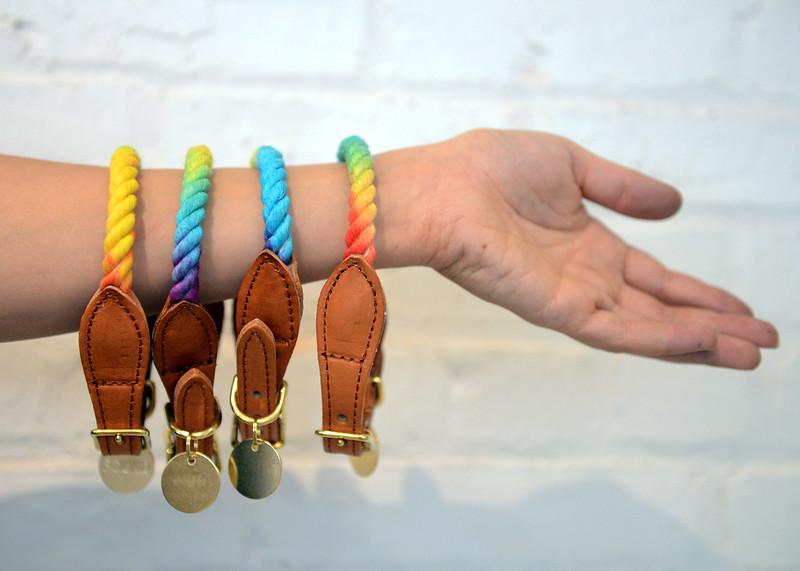Tania Barricklo-Daily Freeman    Hand-made collars.