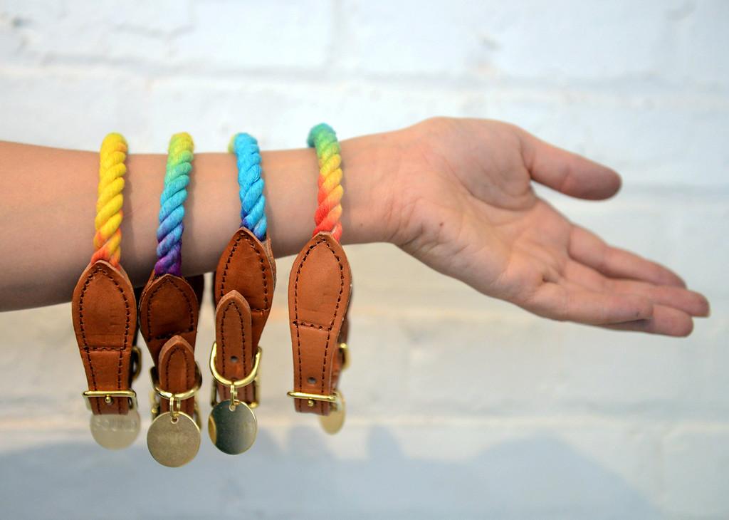 . Tania Barricklo-Daily Freeman    Hand-made collars.