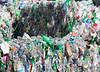 Bales of plastic bottles