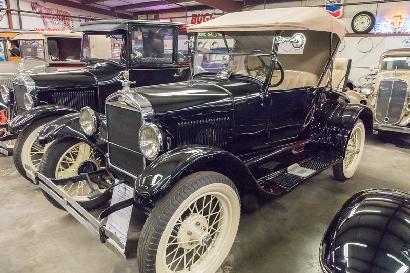 Ford Model T from 1927. Ford made the Model T for many years.
