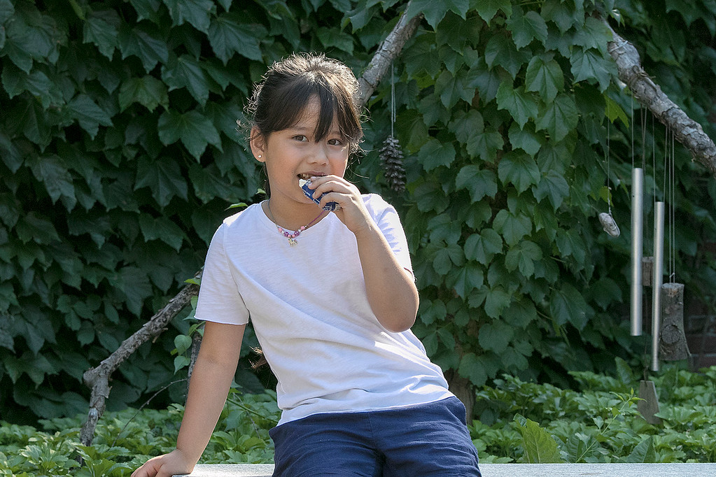 . The Fitchburg Public Library held a summer Reading Kickoff Party on Thursday, June 27, 2019. Enjoying some ice cream during the party is Ka\'ryn Suwan, 6, from Fitchburg. SENTINEL & ENTERPRISE/JOHN LOVE