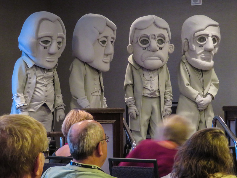 Mount Rushmore figures at N4C convention