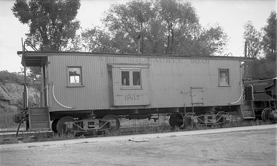 2009.026.12.8541--ritzman 116 negative--CMStP&P--wooden caboose 0817--Mineral Point WI--1953 0816