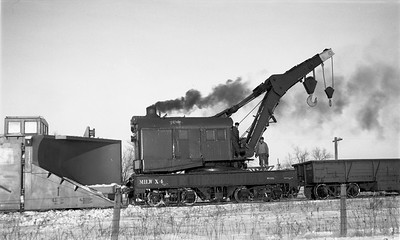 2009.026.17.8582--ritzman 116 negative--CMStP&P--wrecker X-4 action with steam locomotive 327 derailed--Bradt IL--1950 1209