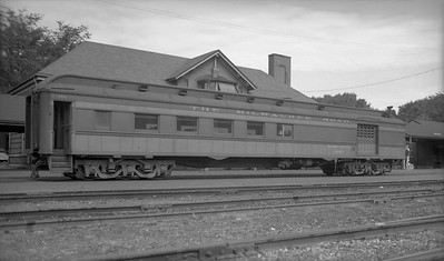 2009.026.13.9741--ritzman PC neg--CMStP&P--combine car 2611 for Mineral Point mixed train--Janesville WI--1953 0816