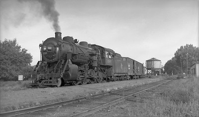 2009.026.01.09582--ritzman PC negative--CMStP&P--steam locomotive 2-8-0 C5a 1247 on freight train 263 for Storm Lake--Rockwell City IA--1940 0815