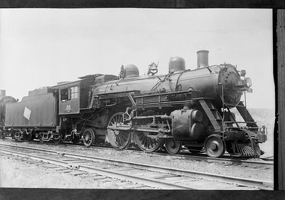 """2009.026.01.09251--ritzman 5x7 COPY neg--CMStP&P--steam locomotive 4-4-2 A4s 31--Fox Lake IL--1941 0824. """"Original negative damaged in deluge but not beyond recall. Copy made (for a precaution) from print herewith which was on hand but slightly damaged."""" FRR"""