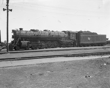 2009.026.01.8068--ritzman 4x5 negative--CMStP&P--steam locomotive 4-8-4 S-2 217--Bensenville IL--1954 0627