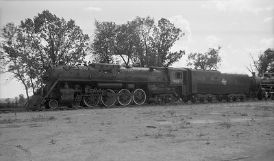 2009.026.01.09351--ritzman PC neg--CMStP&P--steam locomotive 4-8-4 S3 261 on display at museum--Green Bay WI--no date