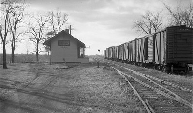 2009.026.15.8721--ritzman 116 negative--CMStP&P--depot--Andres IL--1952 0315. Looking west.