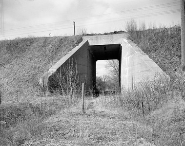 2009.026.19.11639--ritzman 4x5 negative--C&NW MILW--view--Almora IL--1964 0202. Looking west, Elgin & Belvidere Elec. underpass.