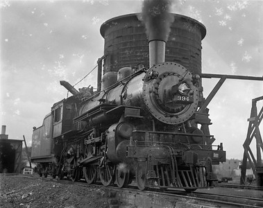 2009.026.01.10261--ritzman 4x5 negative--C&NW--steam locomotive 4-4-2 D 394--Williams Bay WI--1938 0612