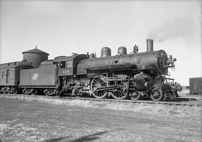 2009.026.01.12676--ritzman 5x7 negative--C&NW--steam locomotive 4-4-2 D 158--Williams Bay WI--1940 1102