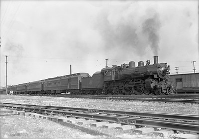2009.026.01.12698--ritzman 5x7 negative--C&NW--steam locomotive 4-4-2 D 391 on train 26--DeKalb IL--1939 0501