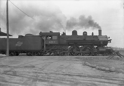 2009.026.01.12725--ritzman 5x7 negative--C&NW--steam locomotive 4-4-2 D 493--Williams Bay WI--1939 0310