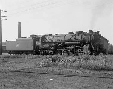 2009.026.01.10773--ritzman 4x5 negative--C&NW--steam locomotive 2-8-4 J-4 2812--DeKalb IL--1941 0803