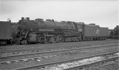 2009.026.01.10771--ritzman 116 negative--C&NW--steam locomotive 2-8-4 J-4 2805 (dead)--Proviso IL--1951 0603