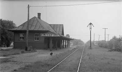 2009.026.15.11817--ritzman 116 negative--C&NW--depot--Algonquin IL--1951 0517. Looking south, down track.