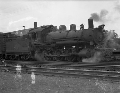 2009.026.03.12564--ritzman 4x5 negative--CStPM&O--steam locomotive 4-6-0 I-1 309--Merrillan WI--no date