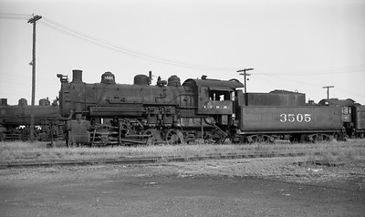 2009.026.01.14569--ritzman PC negative--ICRR--steam 0-8-0 3505 (stored)--Carbondale IL--1960 0903