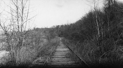 2009.026.2.35.016--ritzman print--C&NW--view looking east on New Diggings spur--half mile east of Strawbridge WI--1934 0429