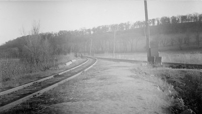 2009.026.2.35.014--ritzman print--C&NW--view fo wye looking east toward tunnel--Strawbridge WI--1934 0429