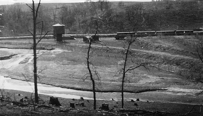 2009.026.2.35.017--ritzman print--C&NW--view from bluff looking west at wye and station--Strawbridge WI--1934 0429