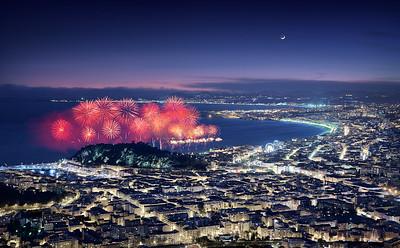 Feux d'artifice - Carnaval de Nice