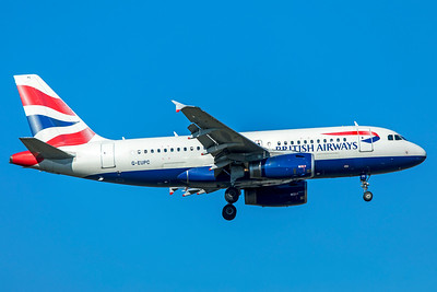 British Airways Airbus A319-131 G-EUPC 10-21-18