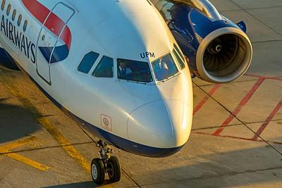 British Airways Airbus A319-131 G-EUPM 10-21-18